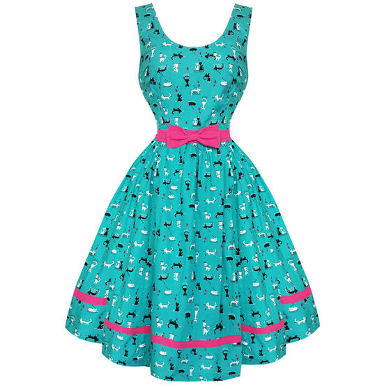 Dancing Days Bright Lights 1950s Cat Dress