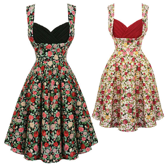 Dolly & Dotty Grace Floral 1950s Dress