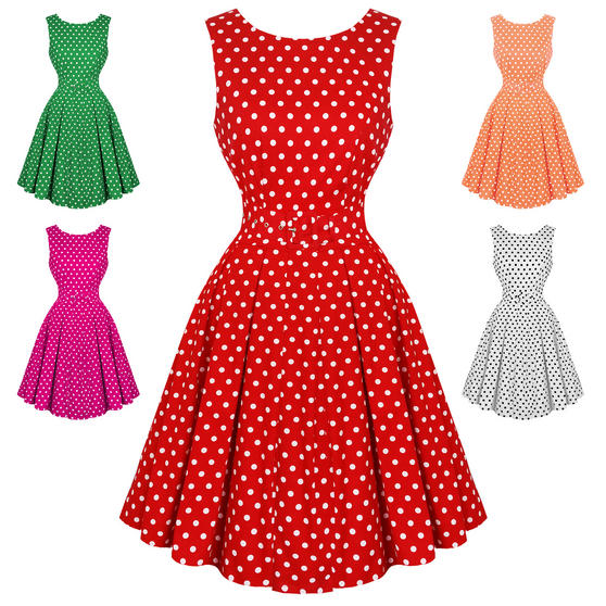 Dolly & Dotty Lola Polka Dot 1950s Dress
