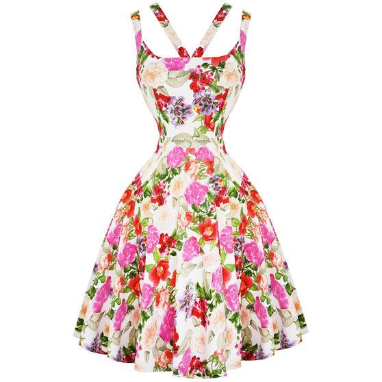 Hearts & Roses London Pink Rose 1950s Dress