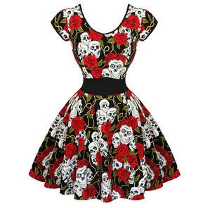 Banned Floral Skull 1950s Dress
