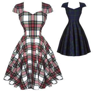 Hell Bunny Aberdeen Dublin Tartan 1950s Dress