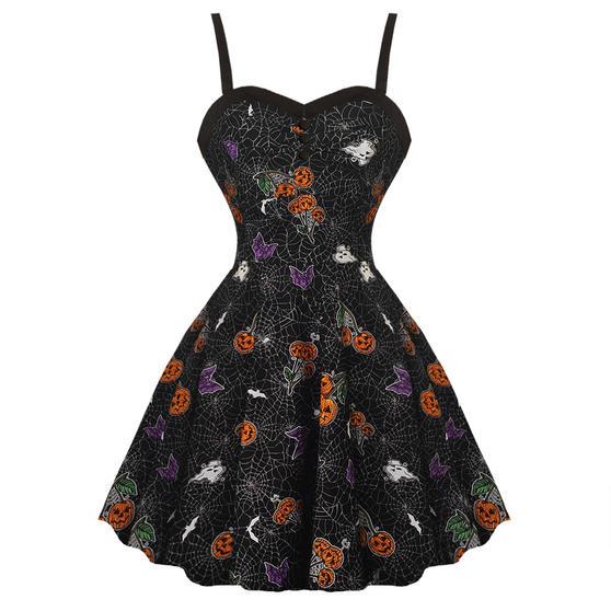 Hell Bunny Harlow Halloween Dress