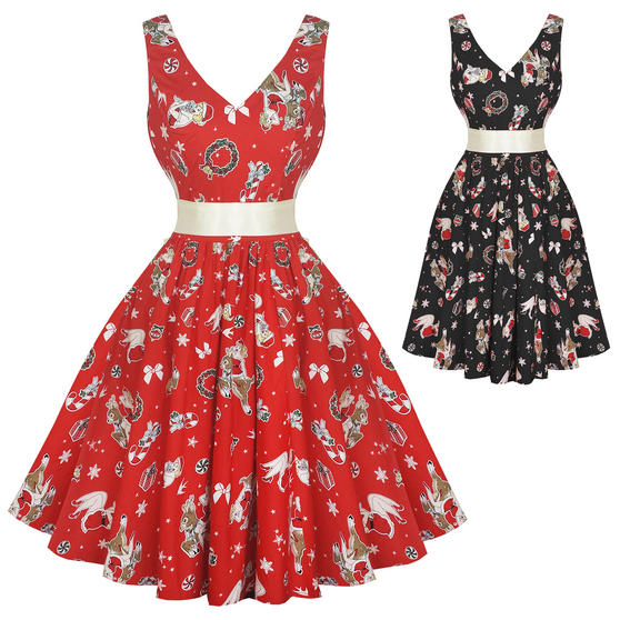 Hell Bunny Blitzen 1950s Dress