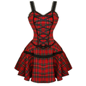 Banned Red Tartan Mini Dress