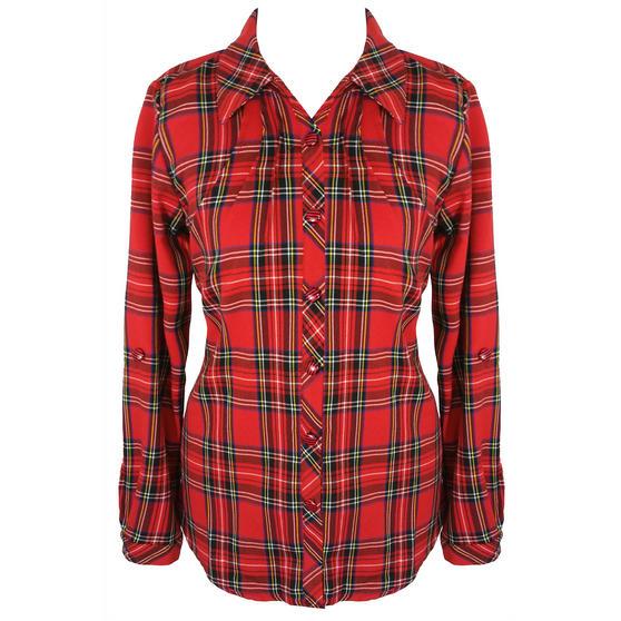 Hearts and Roses London Red Tartan Shirt