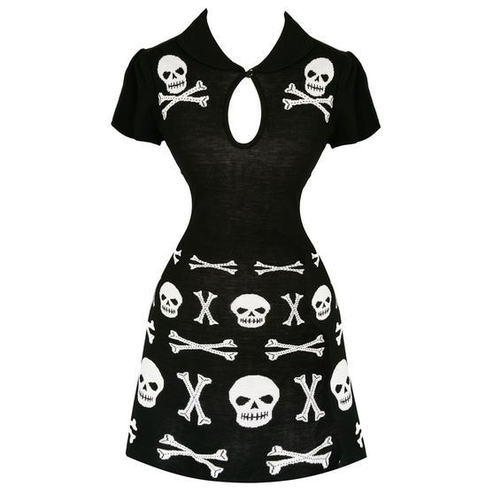 Banned Black Afterlife Skull Dress