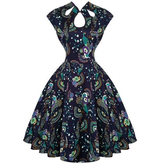 Dancing Days Blue Peacock Dress