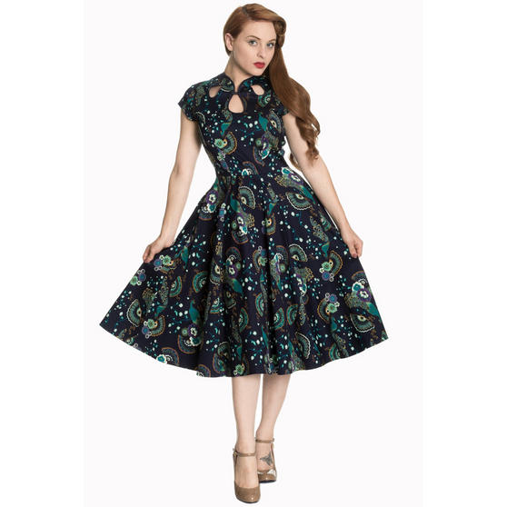 Dancing Days Blue Peacock Dress  Dresses  Starlet Vintage