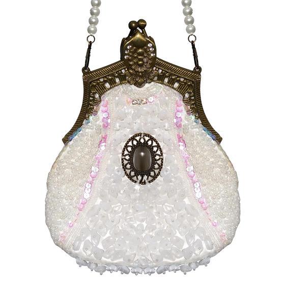 Ivory Beaded Handbag