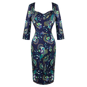 Dancing Days Peacock Pencil Dress