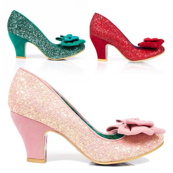 Irregular Choice Ban Joe Cinderella Glitter High Heel Bow Vintage Wedding Shoes
