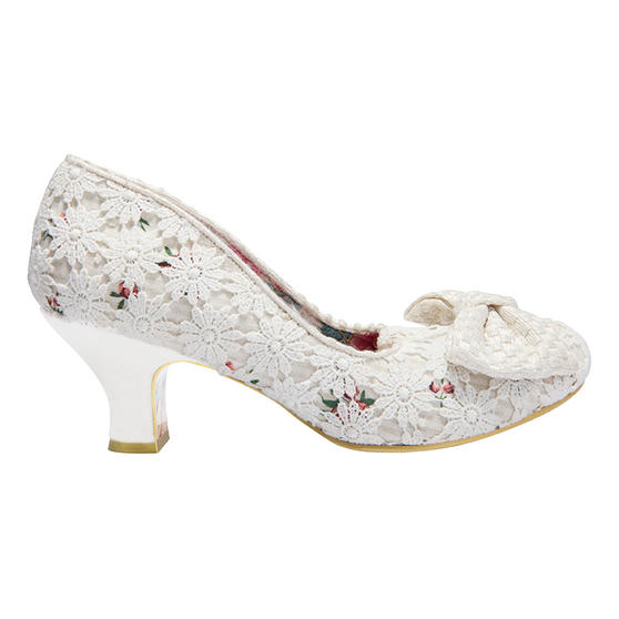 Irregular Choice Dazzles 2nd Razzle Cream Shoes