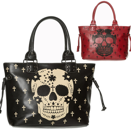 Banned He's a Rebel Skull Handbag
