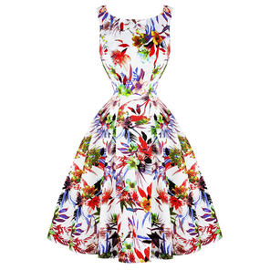 Hearts & Roses London White Liliy 1950s Dress