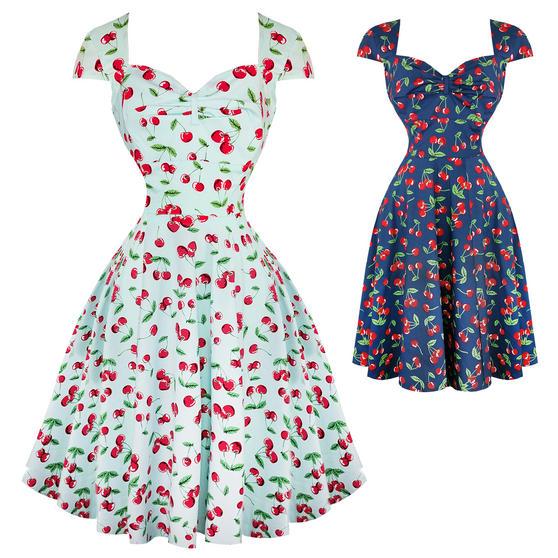 Hell Bunny April Cherry 1950s Dress