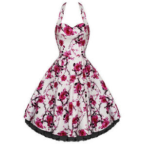 Hearts and Roses London Pink Floral 1950s Dress