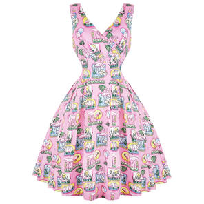 Hell Bunny Maxine 1950s Flamingo Dress