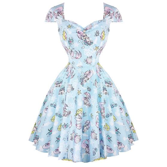 Hell Bunny Coralia 1950s Mermaid Dress