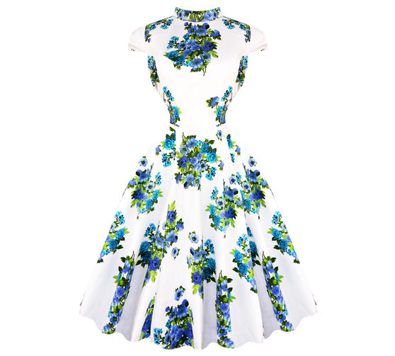 Hearts & Roses London White 1950s Dress