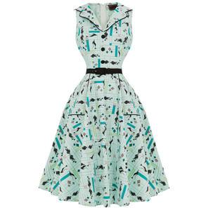 Voodoo Vixen Sheila 1950s Dress