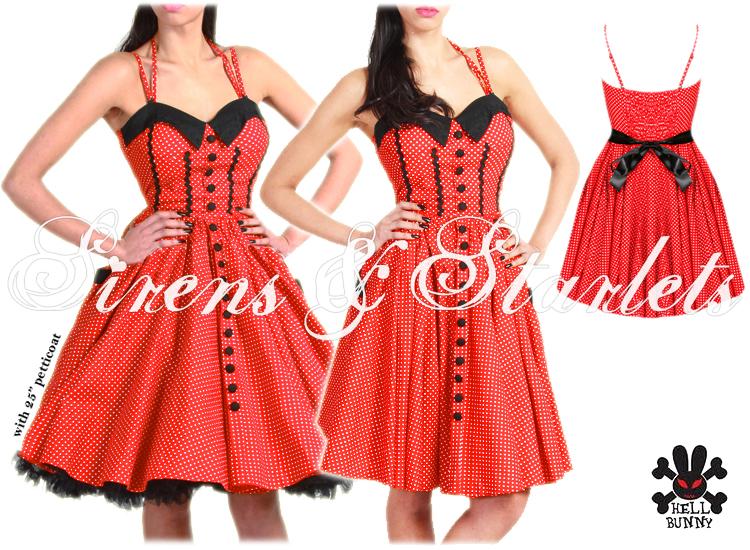 hell bunny peggy sue robe rouge pois bretelles fines r tro ann e 50 soir e bal. Black Bedroom Furniture Sets. Home Design Ideas