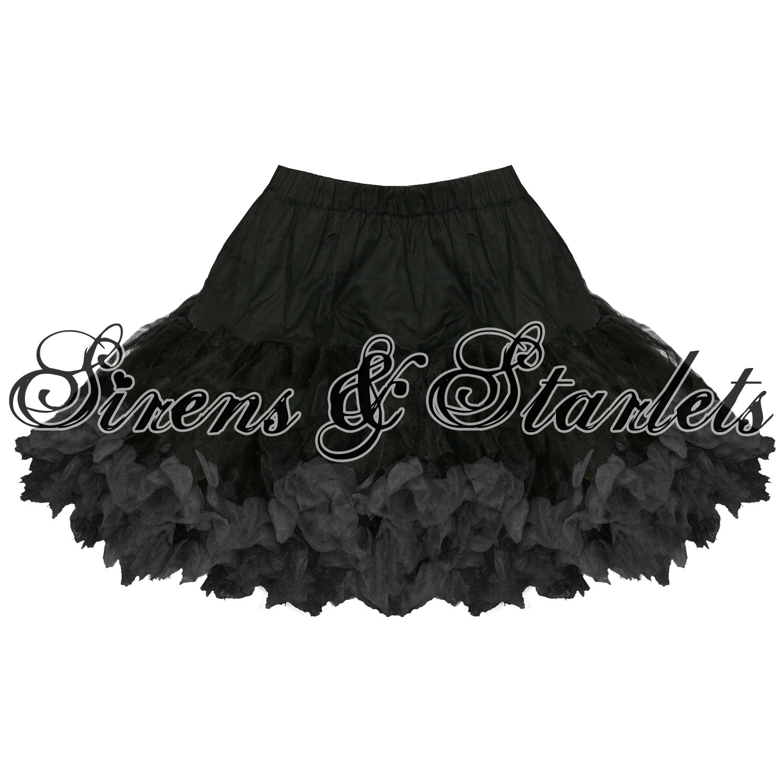 damen rock schwarz 33cm tutu petticoat t ll hell bunny ebay. Black Bedroom Furniture Sets. Home Design Ideas