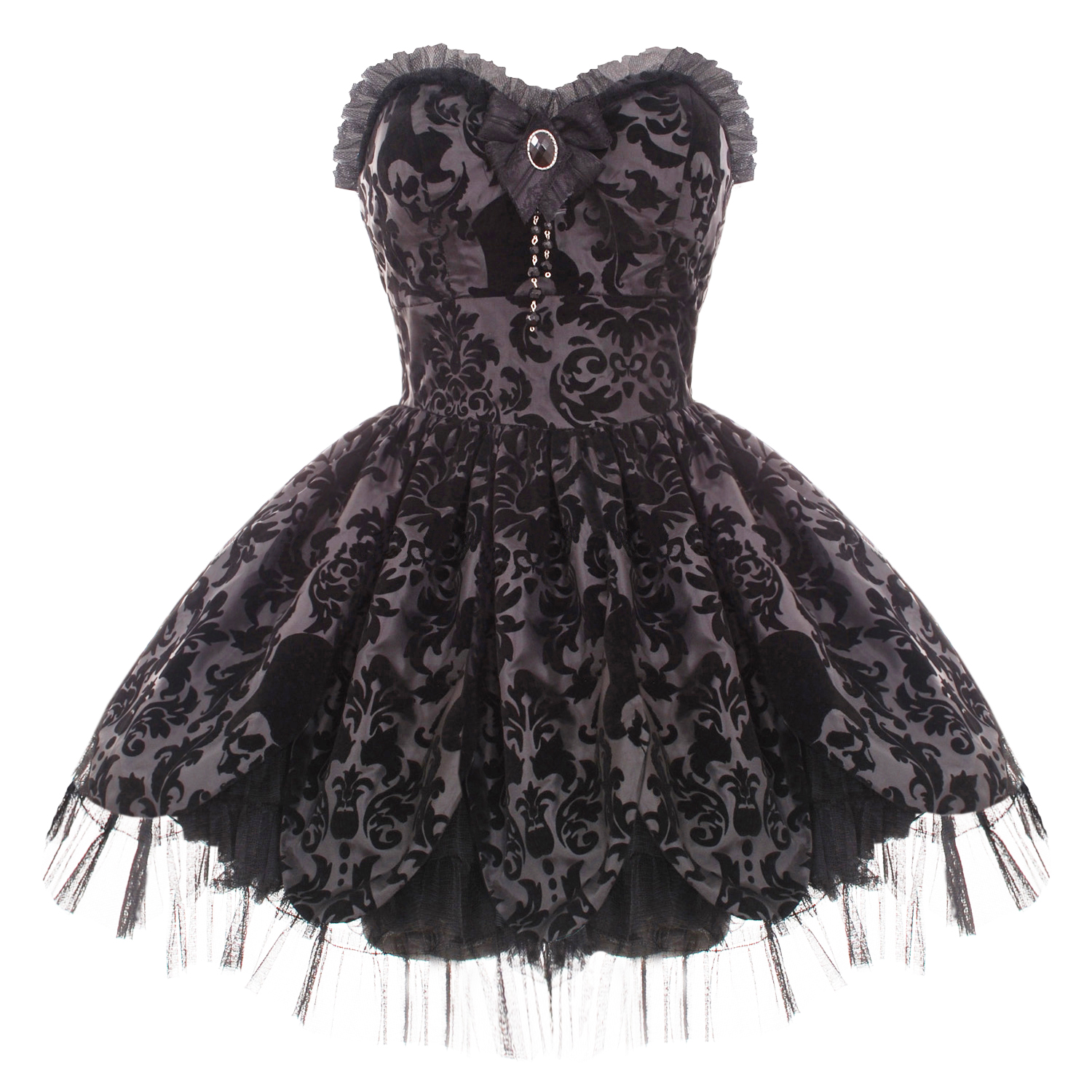 HELL-BUNNY-PETAL-BLACK-GOTH-VICTORIAN-MINI-PROM-DRESS