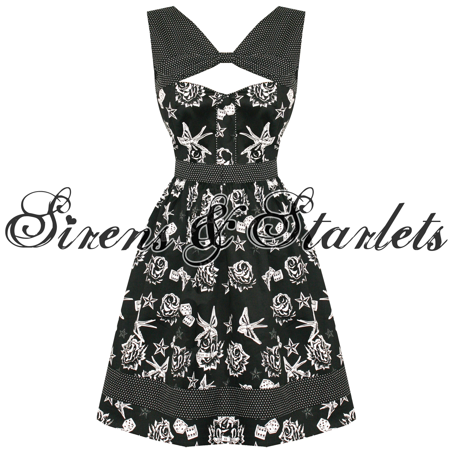 LIVING-DEAD-SOULS-ROCKABILLY-TATTOO-PARTY-PROM-DRESS