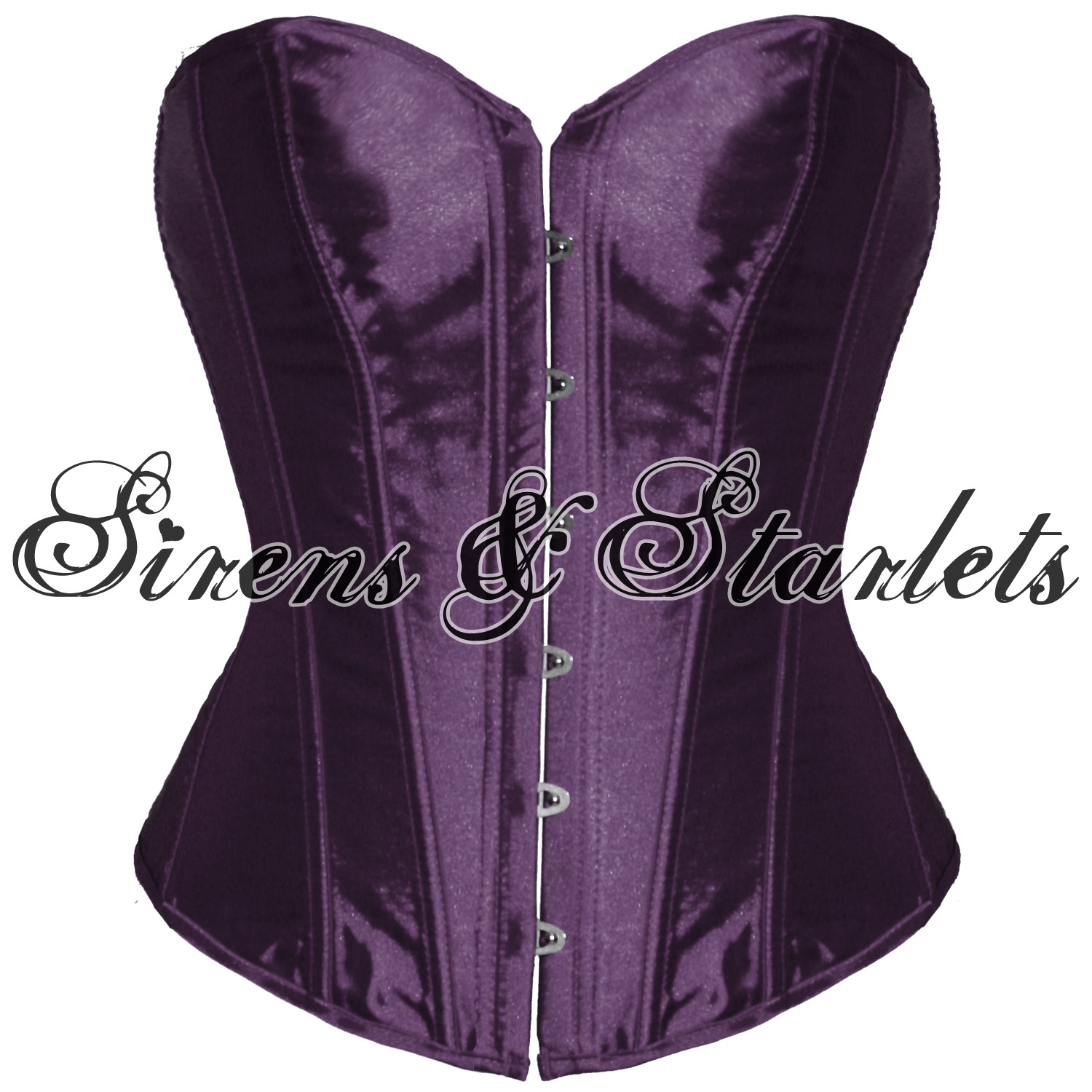 PURPLE-SATIN-GOTHIC-BURLESQUE-BASQUE-CORSET-BASQUE-TOP