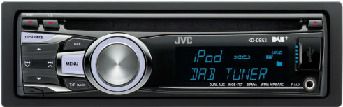 JVC KD-DB52AT DAB Digital Radio CD USB iPod Car Stereo inc glass DAB antenna Enlarged Preview