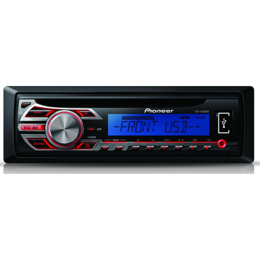 pioneer deh 1500ubb car radio cd stereo front usb and aux inc wma mp3 wav player. Black Bedroom Furniture Sets. Home Design Ideas