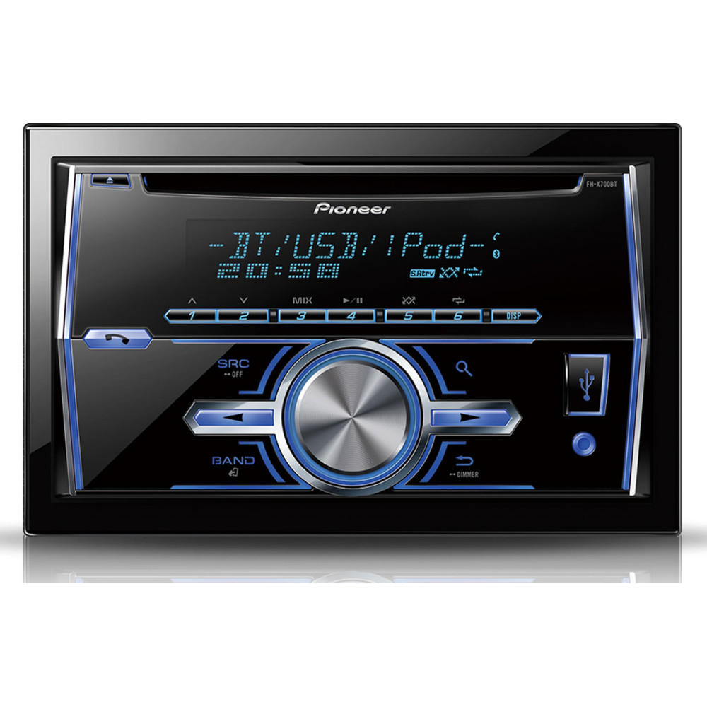 Pioneer FH-X700BT Double Din USB MP3 CD Aux-In Bluetooth
