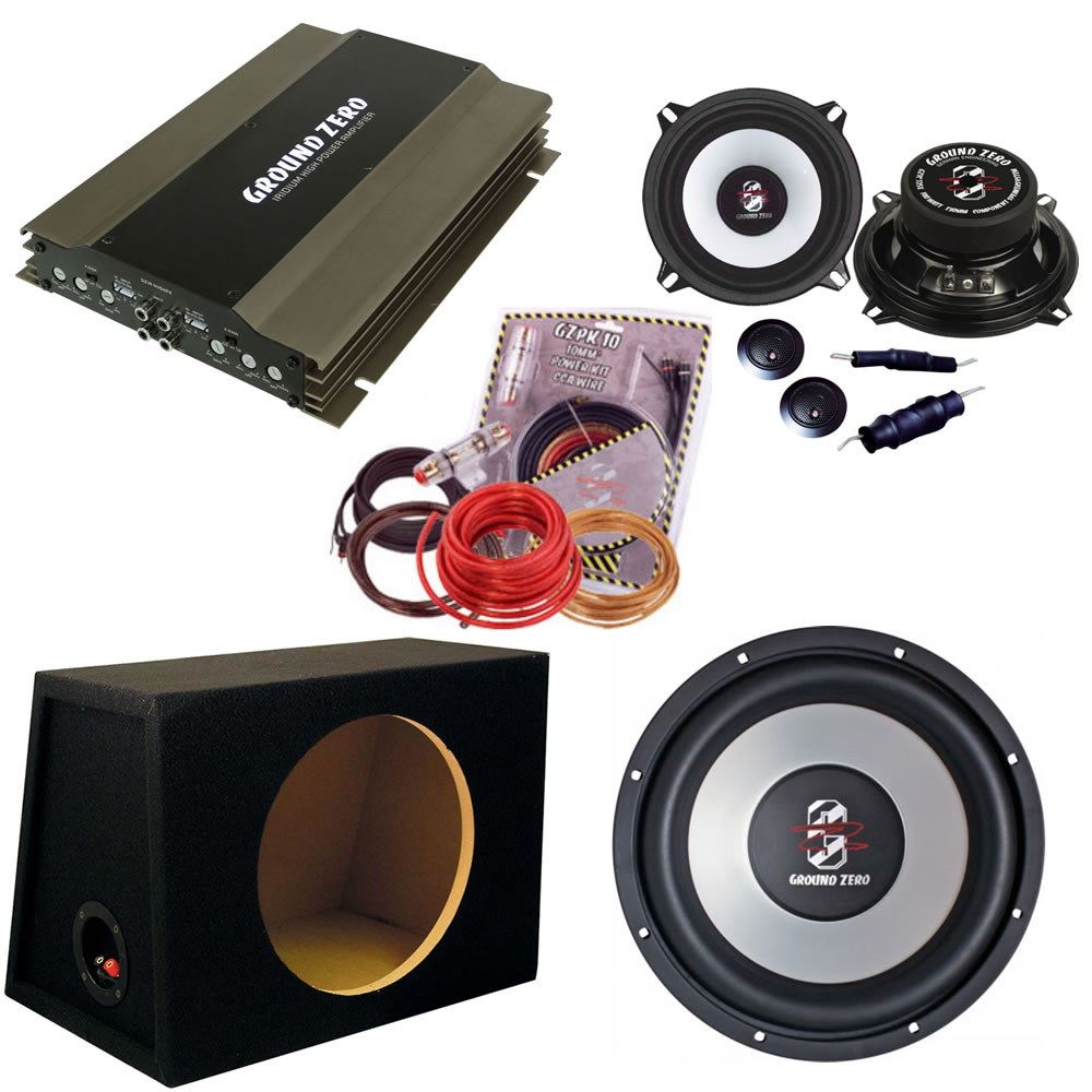 ground zero iridium car audio subwoofer system inc 12 sub. Black Bedroom Furniture Sets. Home Design Ideas