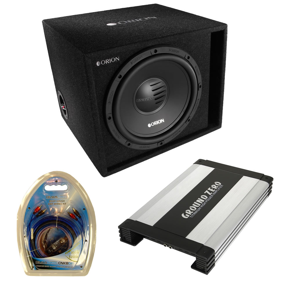 orion cobalt 12 subwoofer box and ground zero amplifier. Black Bedroom Furniture Sets. Home Design Ideas