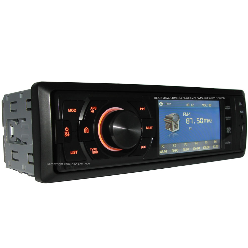 "Beat 190 Mechless Car Stereo With 3"" TFT"