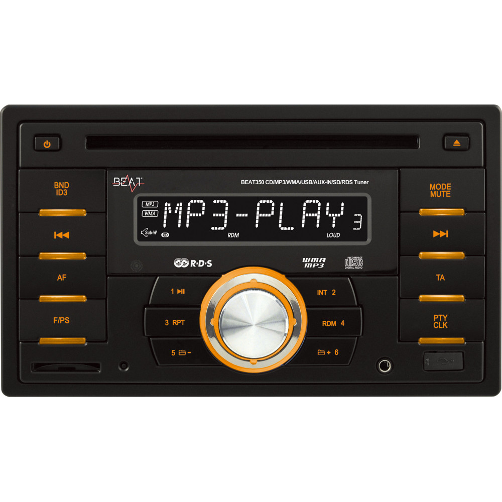 beat 350 double din car stereo head unit radio cd mp3 player with usb sd ebay. Black Bedroom Furniture Sets. Home Design Ideas