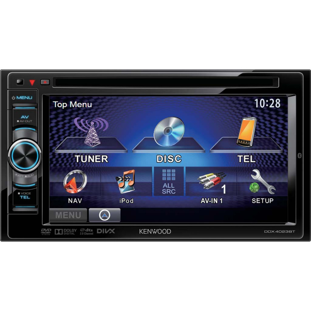 kenwood ddx 4023bt 2 din dvd 6 car stereo touch screen. Black Bedroom Furniture Sets. Home Design Ideas