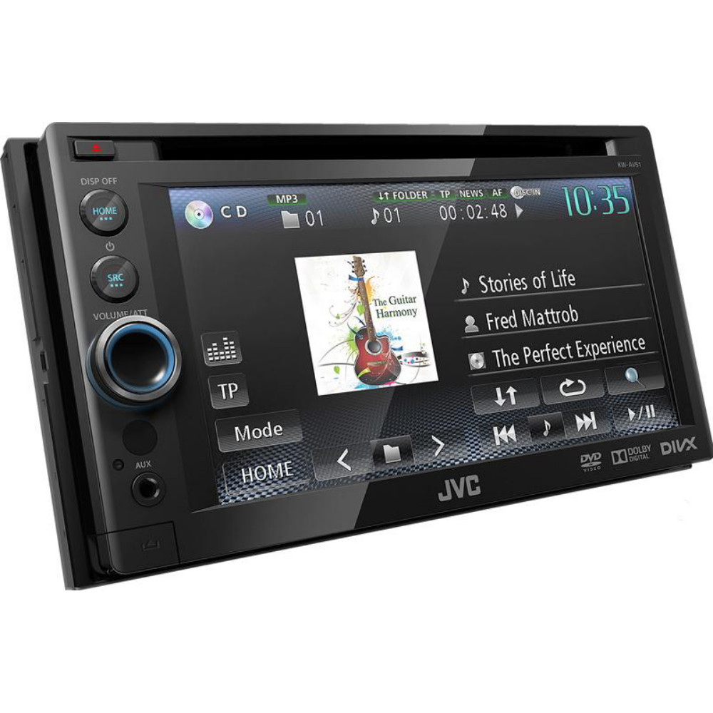 jvc kw av51 double din touch screen dvd av receiver car. Black Bedroom Furniture Sets. Home Design Ideas