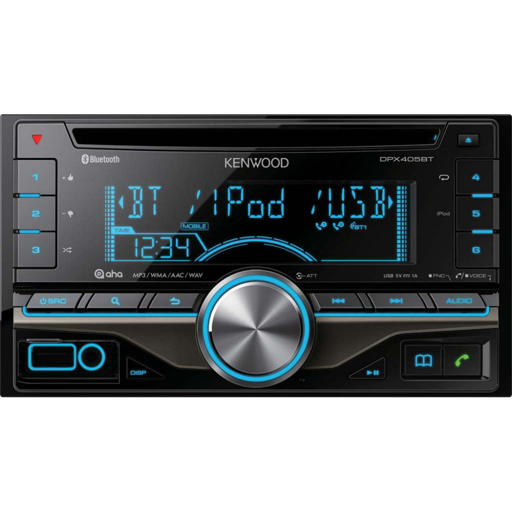 kenwood dpx 405bt double din car stereo with bluetooth usb. Black Bedroom Furniture Sets. Home Design Ideas