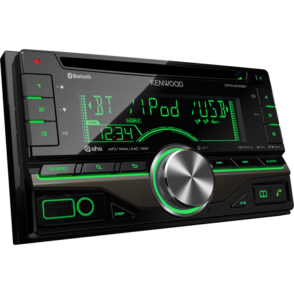 Kenwood DPX-405BT Double DIN Car Stereo With Bluetooth USB