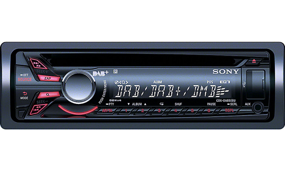 sony cdx dab500u dab digital radio car cd mp3 usb and direct ipod iphone player ebay. Black Bedroom Furniture Sets. Home Design Ideas