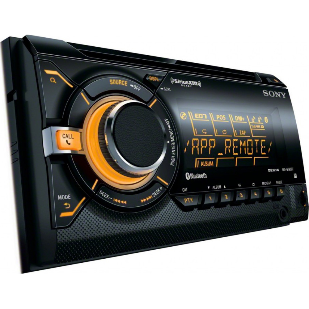 sony wx gt90bt double din car stereo radio with usb and. Black Bedroom Furniture Sets. Home Design Ideas