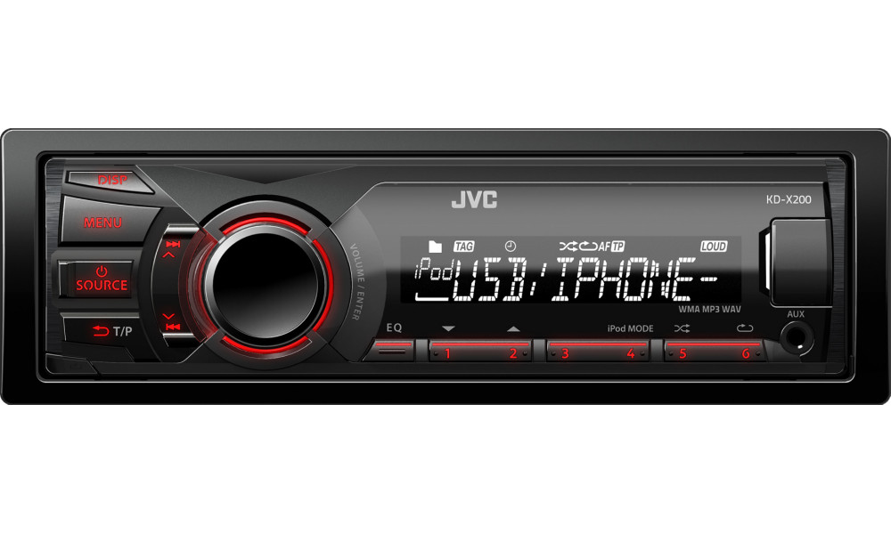 JVC KD-X200 Media Receiver Mechless USB High Power Car Stereo Enlarged Preview