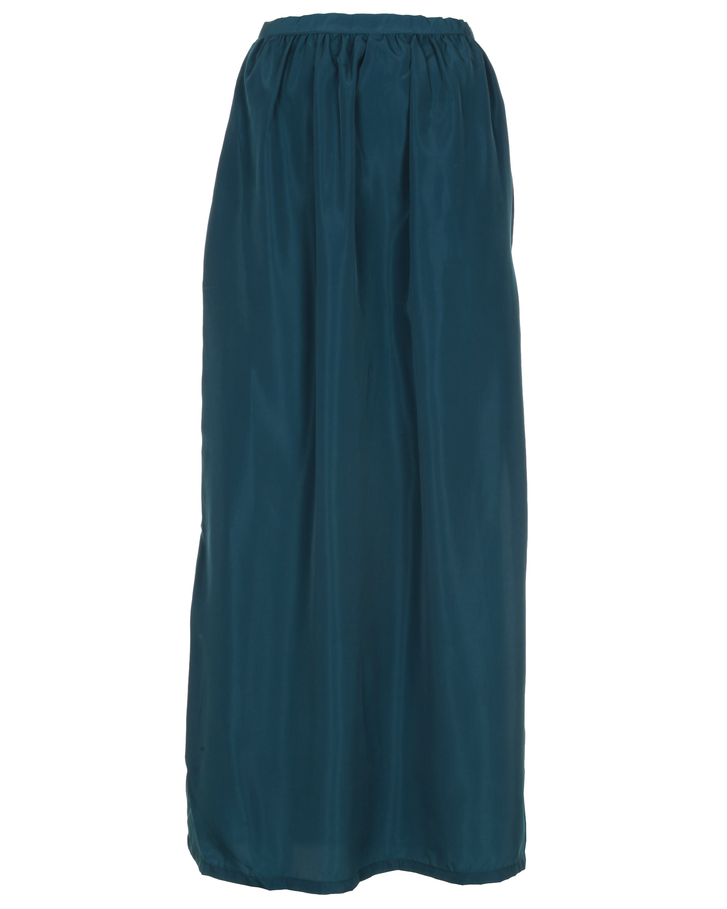 Blue-Inc-Womens-Dark-Jade-Side-Split-Maxi-Skirt