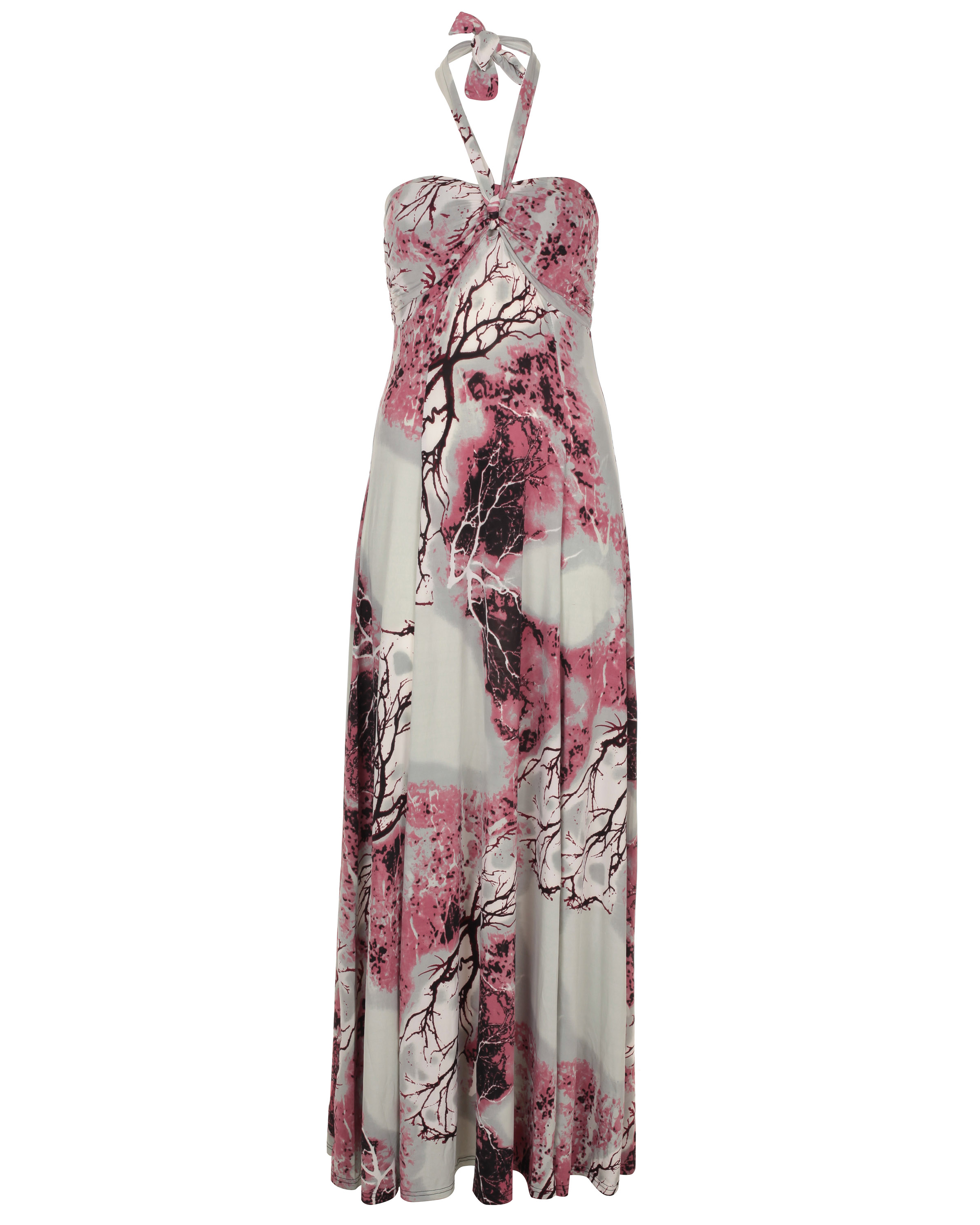 Blue Inc Womens Printed Maxi Dress Pink Enlarged Preview