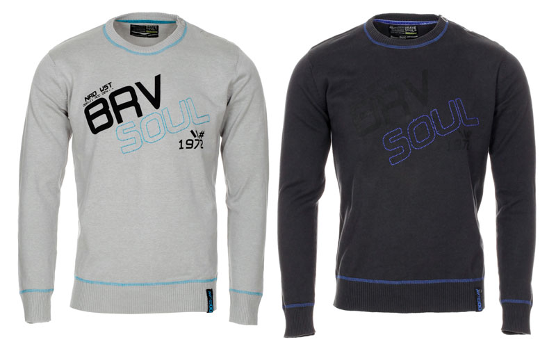 Blue-Inc-Mens-Brave-Soul-Crew-Neck-Jumper-Grey-Charcoal-New