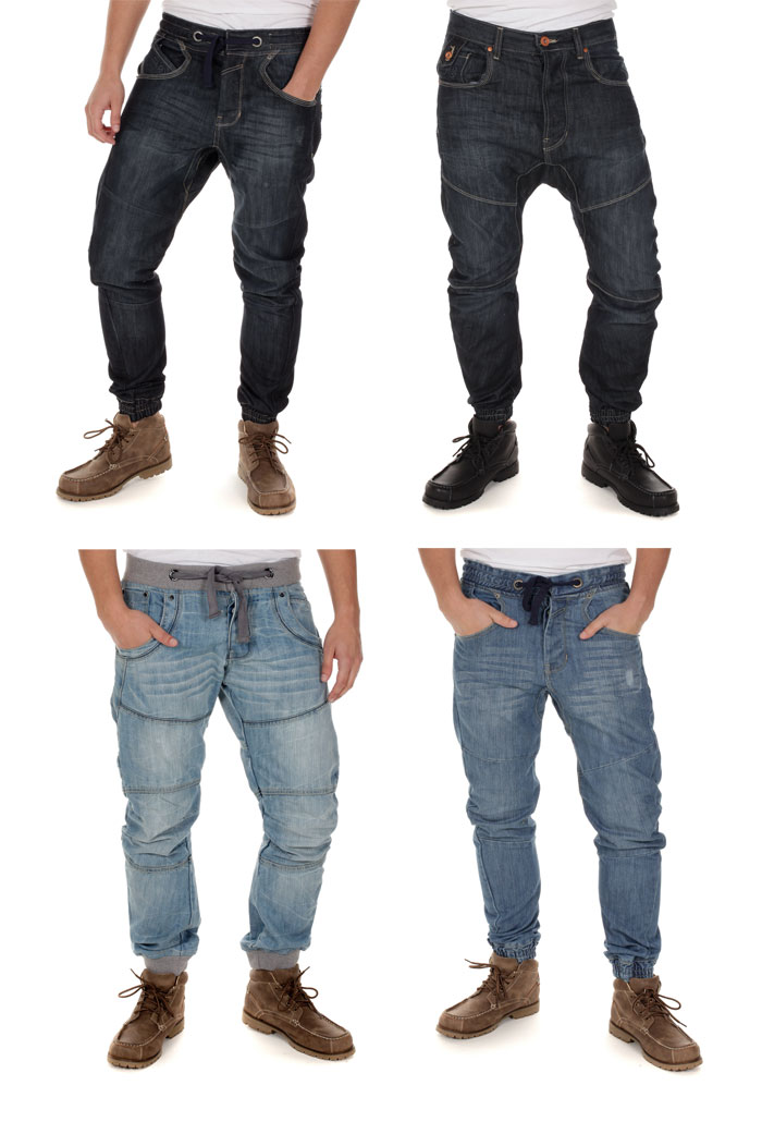 Blue-Inc-Crosshatch-Assorted-Mens-Cuffed-Robbo-Zenico-Hawk-Jeans-Deal