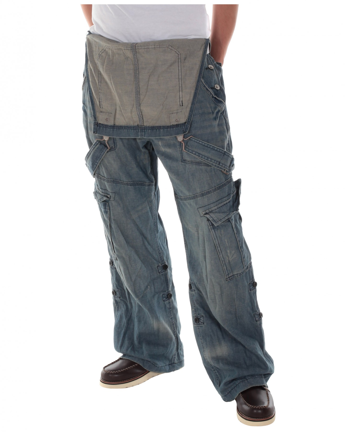 Blue-Inc-Mens-Worker-Fit-Tech-Strappy-Dungaree-Jeans-Blue