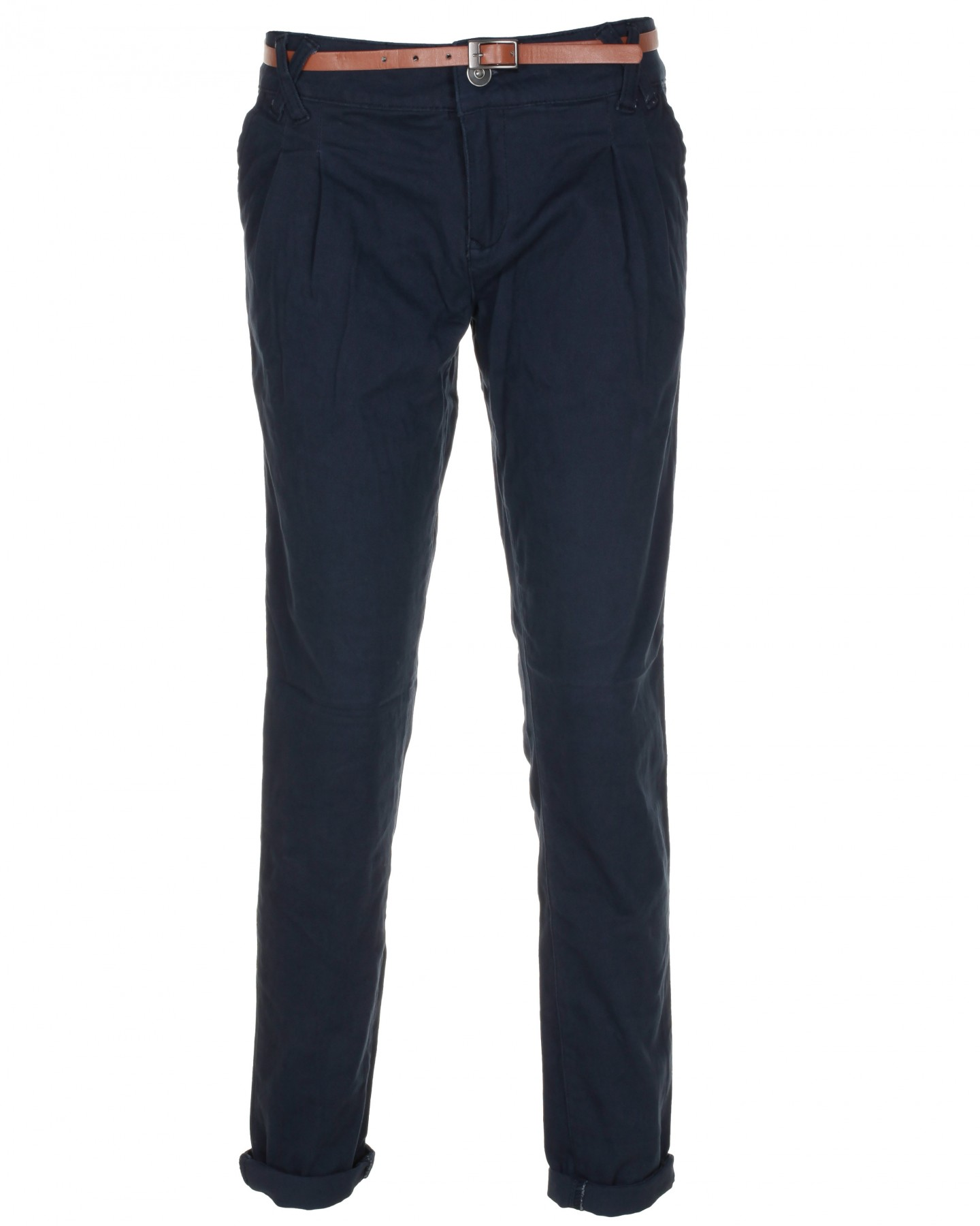 Blue-Inc-Womens-Twill-Chino-Trousers-Navy-Blue